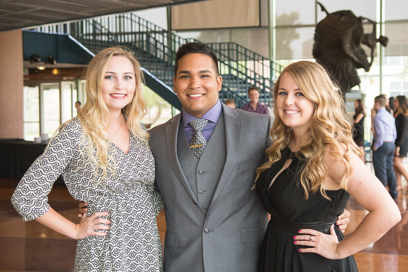 Madison Fluty (left), James Aceves, and Brianna B.