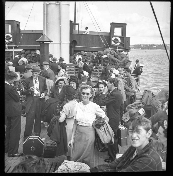 Marine Shark arrival at Cobh, 7/28/1949