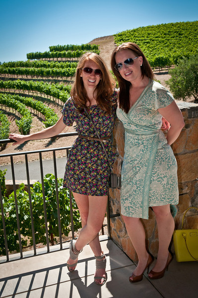 Ariel and the Birthday Girl (Kali) waiting for our tour to start at Pride Mountain Winery