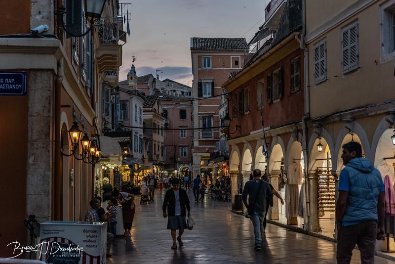 Evening Shopping in Corfu Town