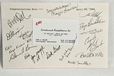 4-25-1993 Kris Promotion to CFI Vice President