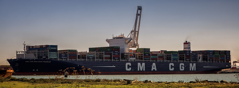 Mega Ship visits Port of Oakland