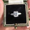 2.03ct Emerald Cut Diamond Ring, GIA K IF 8
