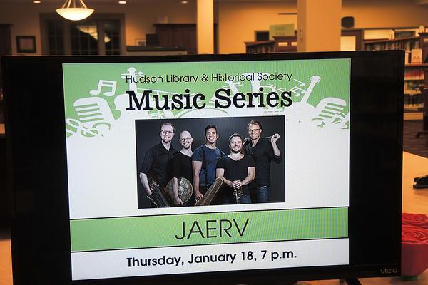 January 18, 2018. Swedish award winning quintet..JAERV, performs at the Hudson, Ohio Library.