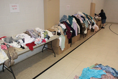 Brand Name Clothing Sale, Salvation Army, Tamaqua (7-21-2012)