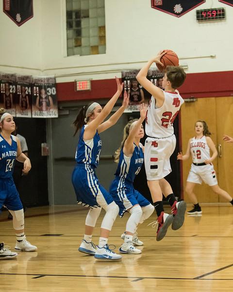 2020 Girls JV Basketball:  Hall-Dale vs Madison