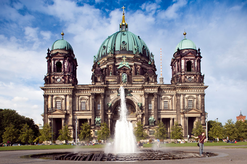Facade of the Berliner Dom (Cathedral) as seen from Lustgarten, Berlin, Germany