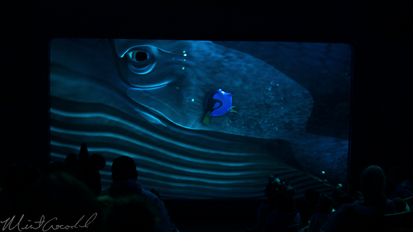 Disneyland Resort, Disney California Adventure, Animation, Building, Tutle, Talk, Crush, Finding, Dory, Squirt, Marlin, Destiny