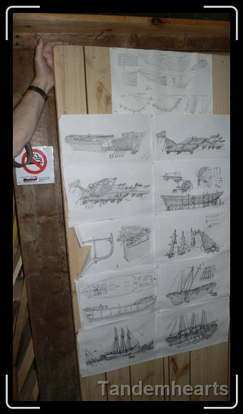 Some of the plans and ideas for the boat.