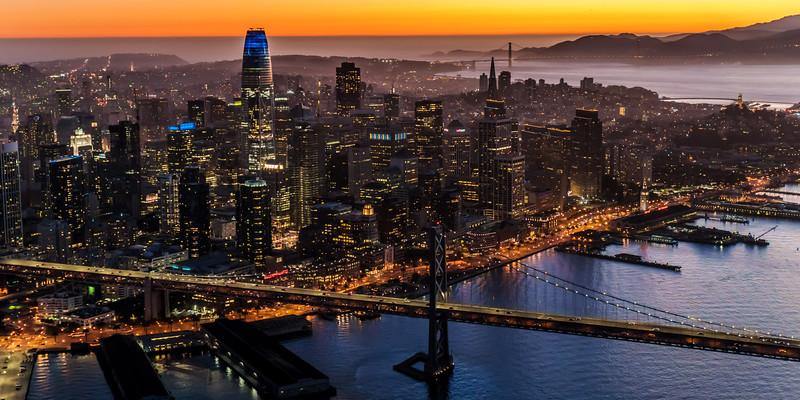 Sunset SF Skyline