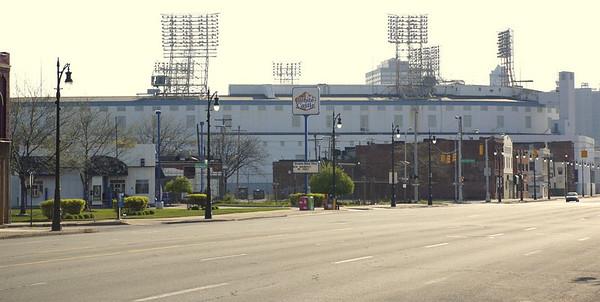 Tiger Stadium just before its destruction