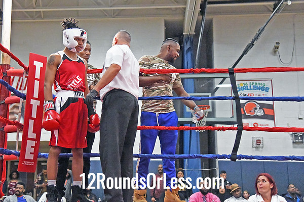 Bout #5:  Jwemani Golphin, Little Giants BC, Cleveland, OH   vs  John Campbell, King of the Ring BC, Ontario, Canada  -  141 Lbs.