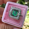 1.60ctw Emerald and Diamond Cocktail Ring 3