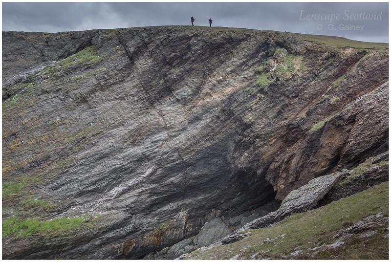 Funzie Ness cliffs, Fetlar