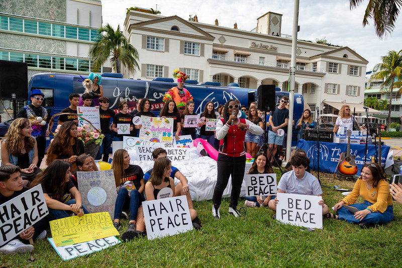 2018_11_03, Andy Cabrera, Ayeisha Kirkland, Beach, Beach Bed In, Bed In, Bed In on the Beach, Bus, Come Together, Come Together Miami, Diana Rodriguez, Exterior, FL, Florida, Miami, Miami Beach, The Betsy, The Betsy Hotel, Yamaha