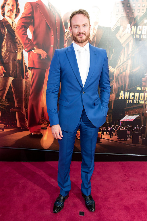 ". Josh Lawson arrives at the ""Anchorman 2: The Legend Continues\"" Australian premiere on November 24, 2013 in Sydney, Australia.  (Photo by Caroline McCredie/Getty Images for Paramount Pictures International)"