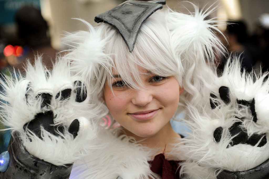 . The Volibear character from League of Legends at the Anime Expo at the L.A. Convention Center, Saturday, July 6, 2013. (Michael Owen Baker/L.A. Daily News)