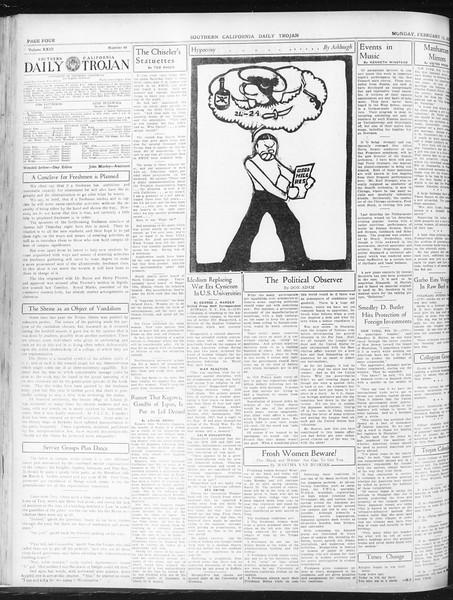 Daily Trojan, Vol. 23, No. 88, February 15, 1932