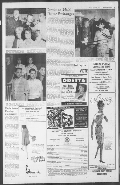 Daily Trojan, Vol. 53, No. 90, March 16, 1962
