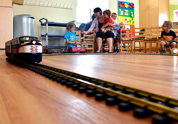 8/14/2019 Mike Orazzi | Staff The Imagine Nation, A Museum Early Learning Center's Railroad Day held on Wednesday morning.