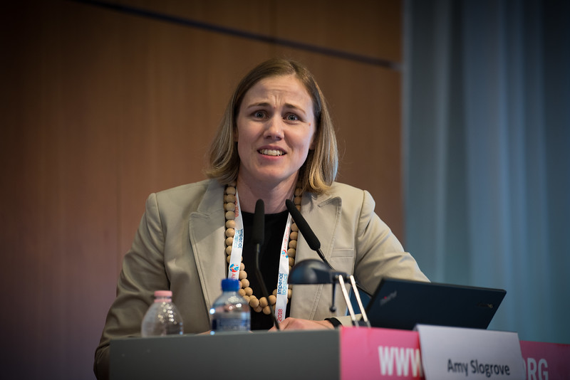 22nd International AIDS Conference (AIDS 2018) Amsterdam, Netherlands   Copyright: Marcus Rose/IAS  Photo shows: The 4th HIV Exposed Uninfected (HEU) Child and Adolescent Workshop.  Amy Slogrove, Stellenbosch University, South Africa