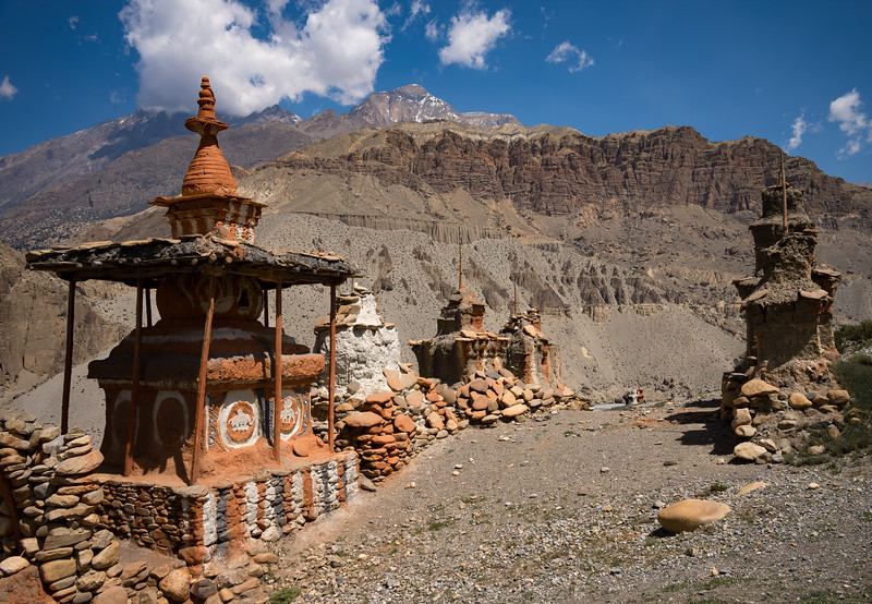 Chortens along the Top of the Gorge of the Kali Gandaki River