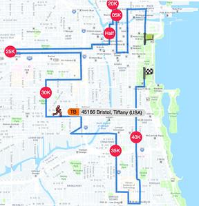 2018 10 07 Tiffany Finishes Chicago Marathon