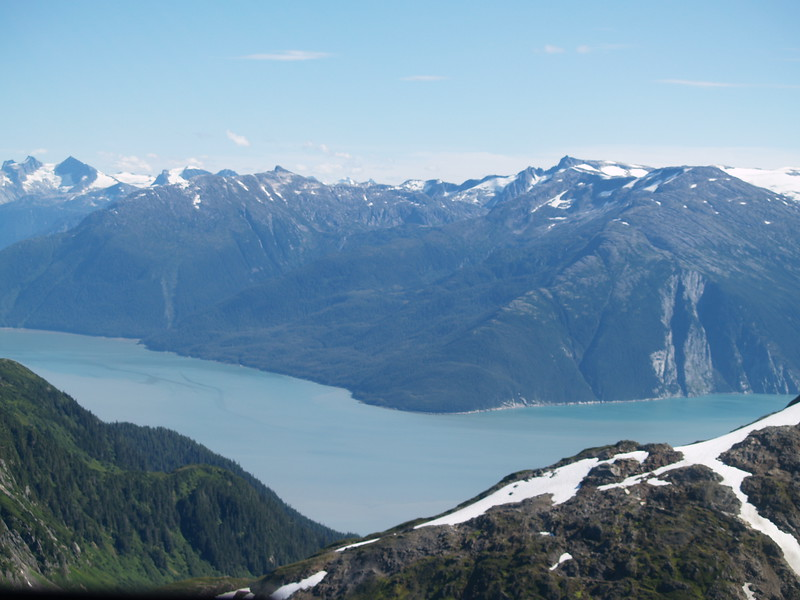 Taku River - carved walls from the centuries of the advance and retreat of Taku Glacier
