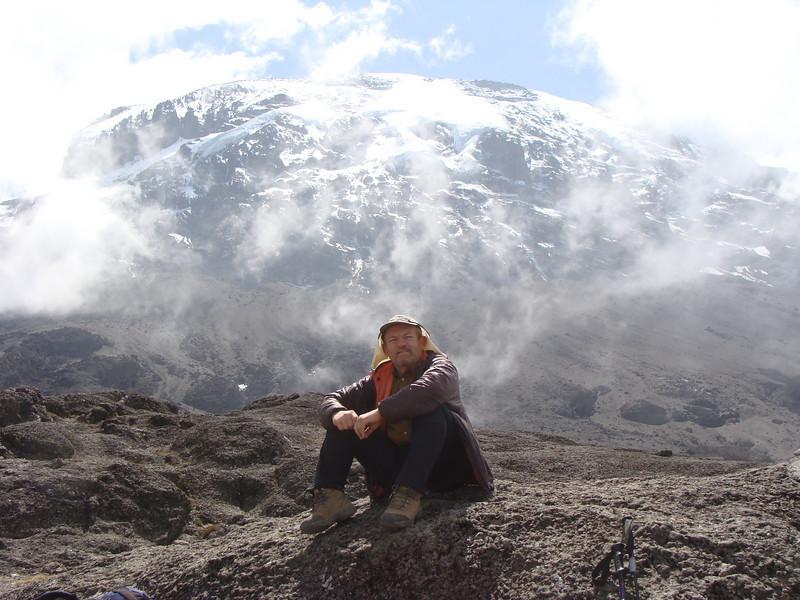 At the pass with Kilimanjaro behind