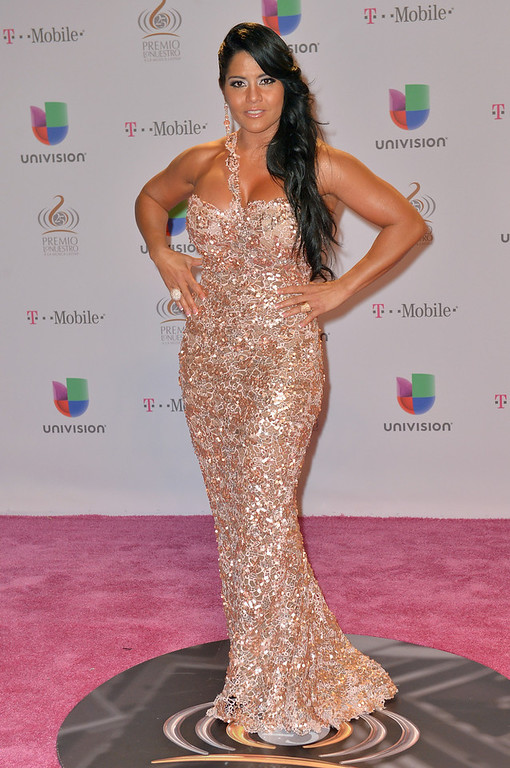 """. Maripily arrives at the 25th Anniversary Of Univision\'s \""""Premio Lo Nuestro A La Musica Latina\"""" on February 21, 2013 in Miami, Florida.  (Photo by Gustavo Caballero/Getty Images for Univision)"""