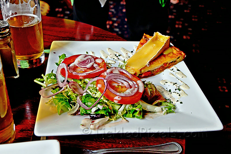 Roasted Bell Pepper & Tipperary Brie Tart...Christy's Pub in Blarney