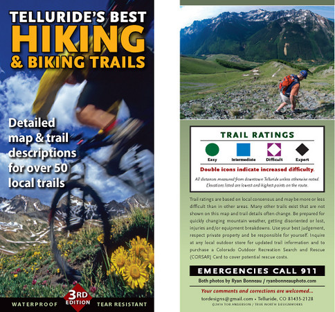 Telluride 2010 Biking/Hiking map