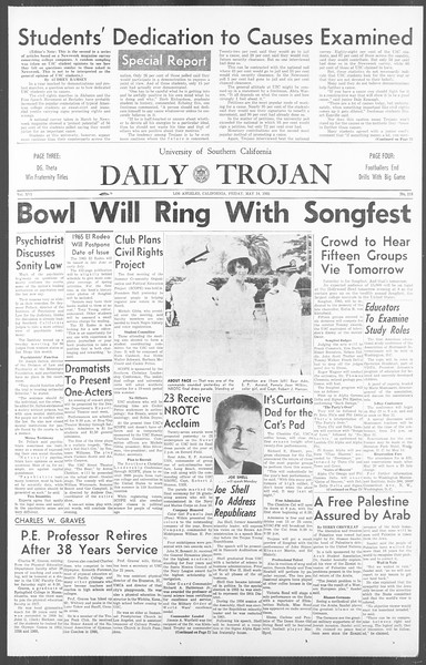 Daily Trojan, Vol. 56, No. 118, May 14, 1965