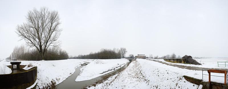 Zena Canal - Nonantola, Modena, Italy - February 12, 2013