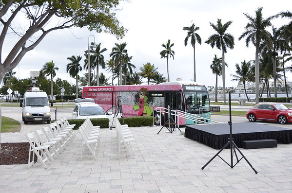 Komen South Florida Race for the Cure Palm Tran Bus Unveiling & Bridge Lighting Ceremony