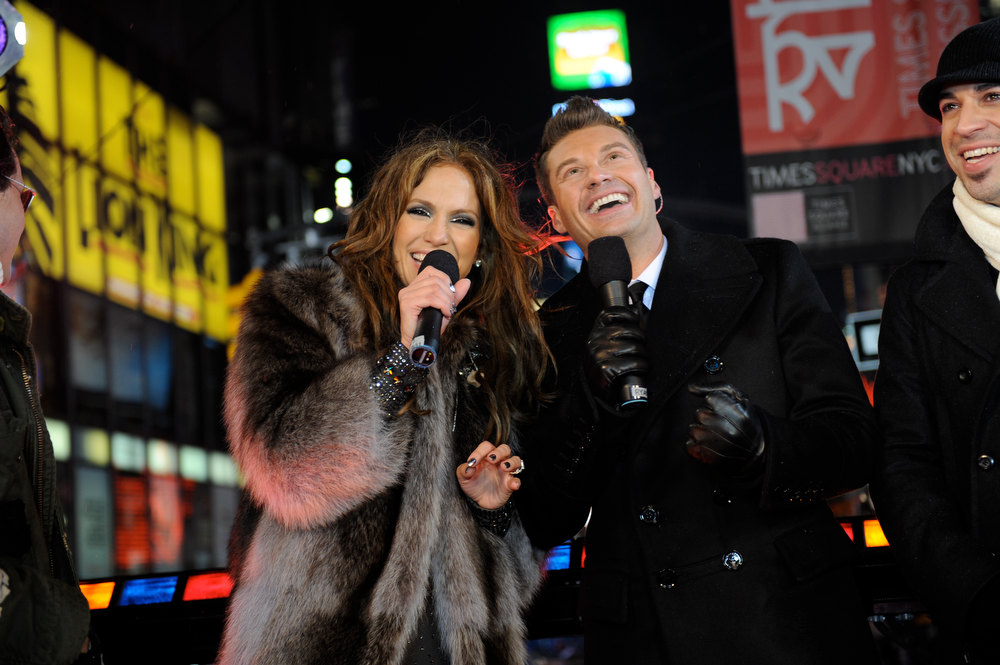 Description of . Dick Clark\'s New Year\'s Rockin\' Eve With Ryan Seacrest 2010 in Times Square on December 31, 2009 in New York City.