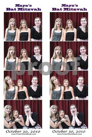 Maya's Bat Mitzvah Photo Strips