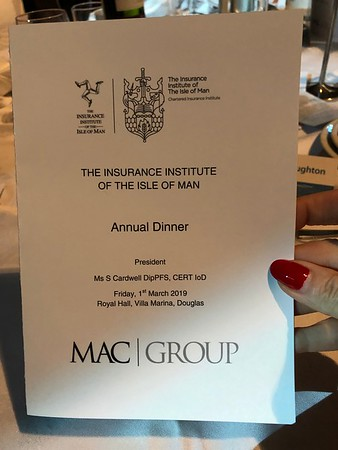 The Insurance Institute of the Isle of Man Annual Dinner 1/3/19 at the Villa