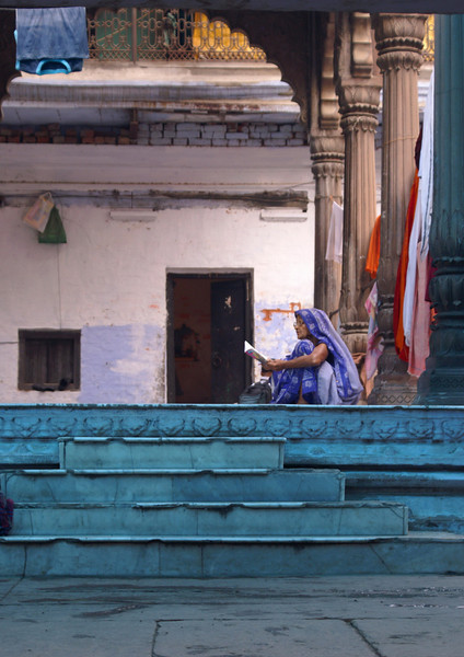 Woman in Blue, Varanasi