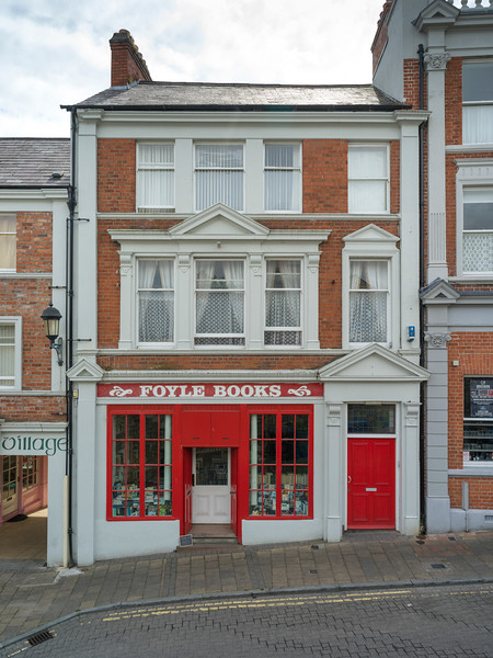 Fa�ade of book store, Londonderry, Northern Ireland, Ireland