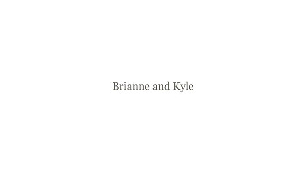 Brianne and Kyle slideshow