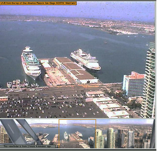 Webcams - various ships