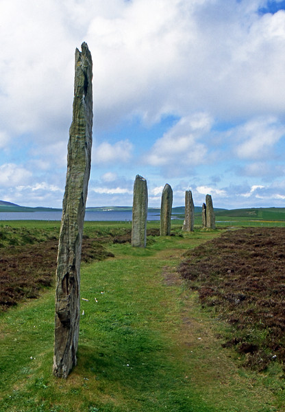 Ring of Brogar (or Brodgar) - Orkney, Scotland, UK - June 1, 1989
