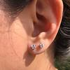 .52ctw Carre Cut Diamond Stud Earrings 10