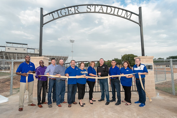 Rockdale Tiger Stadium Ribbon Cutting 9-28-18