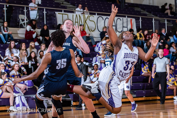 Broughton girls varsity basketball vs Millbrook. February 15, 2019. 750_7374