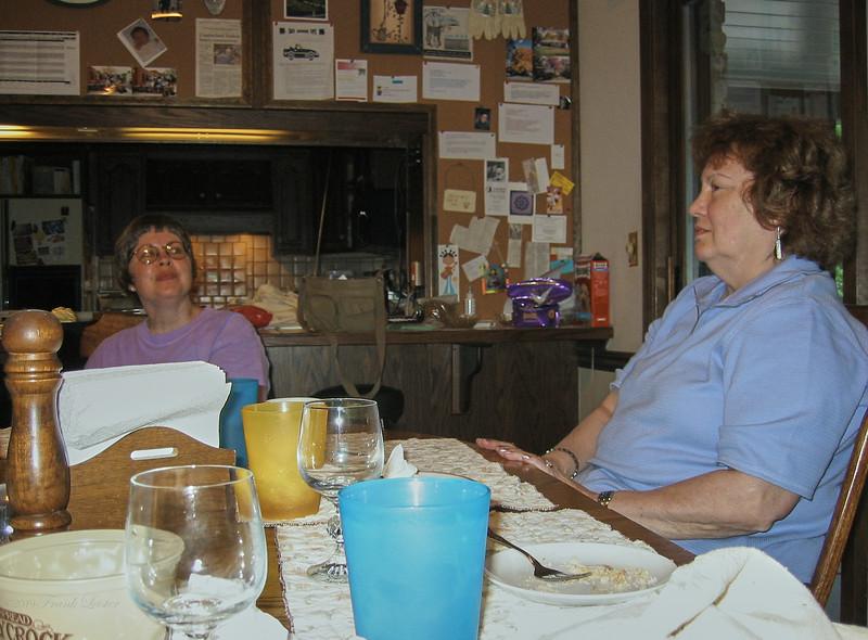 JML, Shirley Lebin - visit from the Lebins, May 2002. Dillsburg PA.