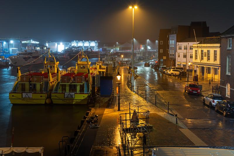 Rain on Poole Quay