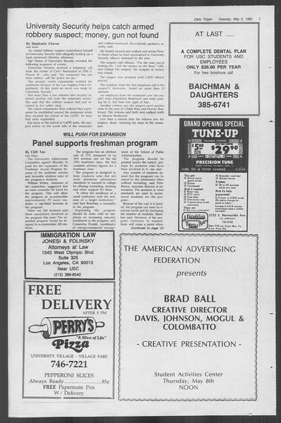 Daily Trojan, Vol. 88, No. 59, May 06, 1980