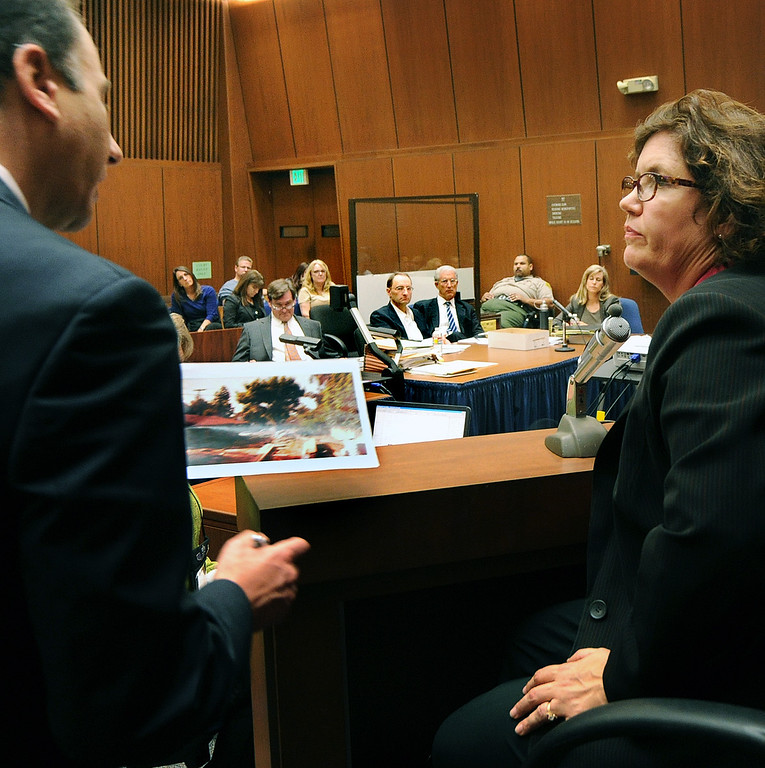 ". Prosecutor Habib Balian, interviewing Dana Farrar, one of the witnesses called to the stand at the murder trial of Christian Gerhartsreiter, 52,  known as ""Clark\"" Rockefeller on the second day of the trial onTuesday, March 19, 2013 at Clara Shortridge Fortz Criminal Justice Center in Los Angeles.  Gerhartsreiter is a German immigrant who masqueraded as a member of the Rockefeller family. He is charged with murder of John Sohus, 27, whose bones were unearthed from the backyard of the home in San Marino, California, in 1985.  Sohus\' wife, Linda, has never been found. (SGVN/Photo by Walt Mancini/LANG)"